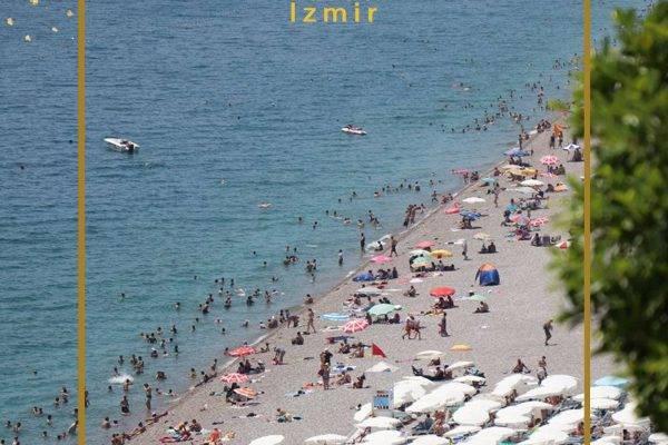 هجوم گردشگران به سواحل آنتالیا