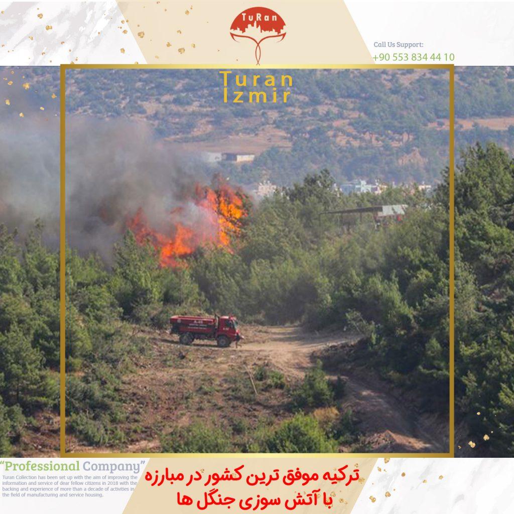 ترکیه موفق ترین کشور در مبارزه با آتش سوزی جنگل ها | اخبار ترکیه | توران ازمیر